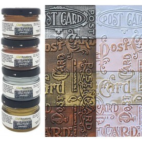 CraftEmotions Wax Paste metallic 1 4x20 ml
