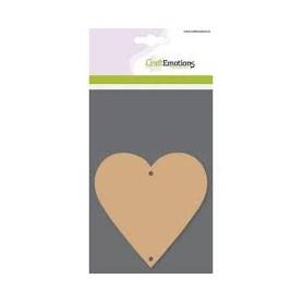Craft Emotions MDF Basisformen 3 Stk. - Herz / 10 x 10 cm