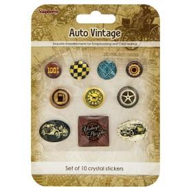 Crystal stickers decoration - Auto Vintage