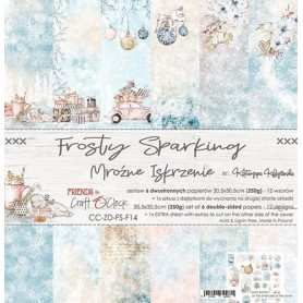 """Paper Collection Set 12""""*12"""" Frosty Sparking"""
