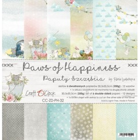 "Paper Collection Set 12""*12"" Paws of Happiness"