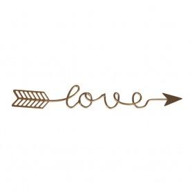 Metalldeko Schriftzug - Love