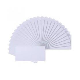 Florence - Double cards 11x22cm 25 Stk Weiß