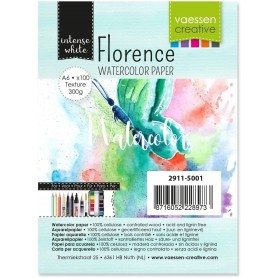 Florence • Watercolor paper texture White 300g A6 100pcs