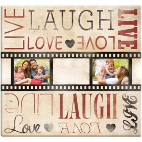 Live Laugh Love Film Strip Post Bound