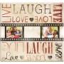Live Laugh Love Film Strip Post Bound