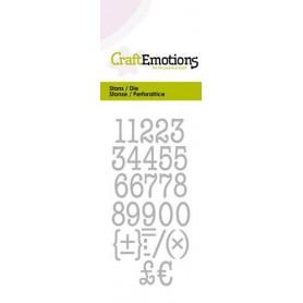 CraftEmotions Die - Typewriter Zahlen Card 5x10cm 12mm