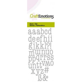 CraftEmotions Die - Kleinbuchstaben Card 5x10cm 12mm