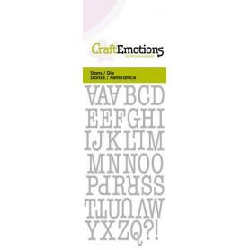 CraftEmotions Die - Großbuchstaben Card 5x10cm 12mm