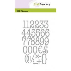 CraftEmotions Die - Zahlen 10,5x14,8cm 20mm