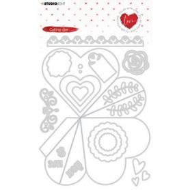 Studio Light Emb. Die Cut Heart shaped box nr.353 A5