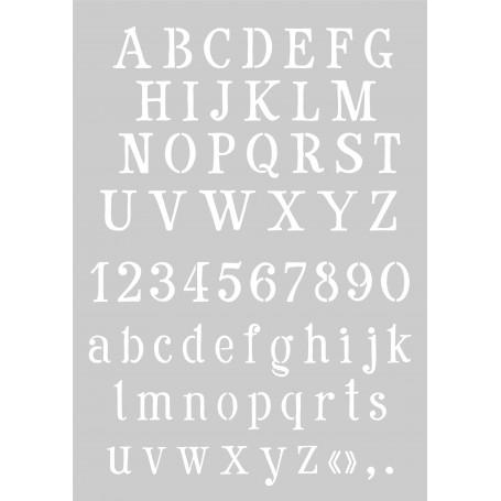 """Memories4You Stencil (A4) """"Buchstaben groß und klein mit Zahlen"""""""