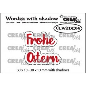 Crealies Wordzz with Shadow Frohe Ostern (DE) 38x13mm