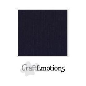 CraftEmotions Leinenkarton 10 Bg schwarz 30,0x30,0cm