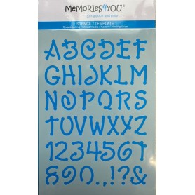 Memories4you Stencil A5 ABC