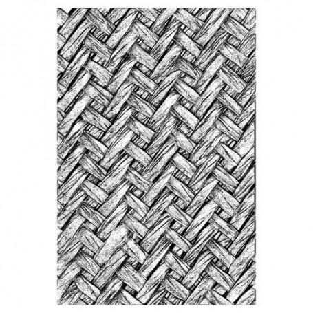 Sizzix 3-D Texture Fades Embossing Folder - Intertwined 664759 Tim Holtz