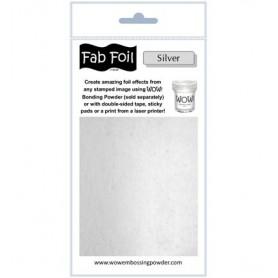 WOW! Fabulous Foil -  Bright Silver Pack 1mtr x 10.1cm