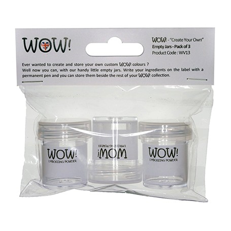 WOW! Empty Jars - Pack of 3