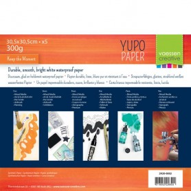 Vaessen Creative • Yupo papier Weiß 30,5x30,5cm 5pcs