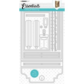 Studio Light Cutting & Emb. Die Journal Essentials nr.381  150x290mm