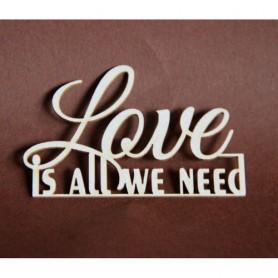 Filigranki Laser Cut Wood Chipboard - LOVE IS ALL WE NEED