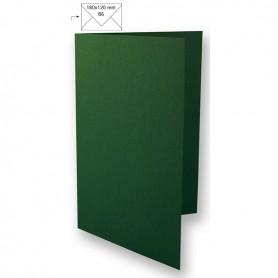 CraftEmotions Doppelkarte B6, dunkelgrün 50 Stk 16,8x11,6cm