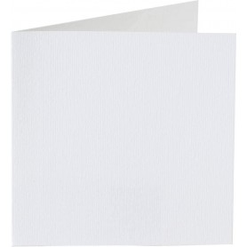 Papicolor Double Card 13,2x13,2cm Pearly-White 200gr 6 Stk