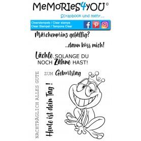 """Memories4you Stempel (A6)  """"Frosch"""""""