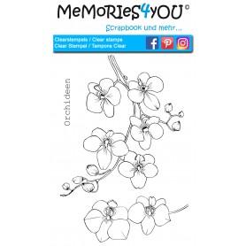 """Memories4you Stempel (A6)  """"Orchideen"""""""