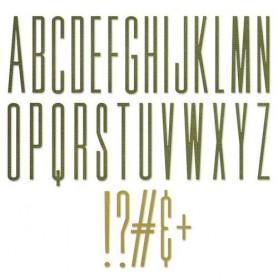 Sizzix Thinlits Die Set - 31PK Alphanumeric Stretch Upper Tim Holtz