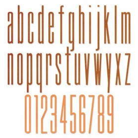 Sizzix Thinlits Die Set - 36PK Alph. Stretch Lower & Numbers Tim Holtz