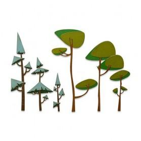 Sizzix Thinlits Die Set - 6PK Funky Trees Tim Holtz