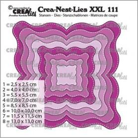 Crealies Crea-nest-dies XXL Fantasie form E Stitchlinie max. 13 x 13 cm