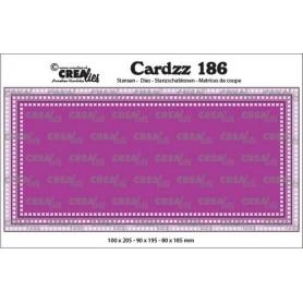 Crealies Cardzz Slimline F Kreuzstiche max. 10 x 20,5 cm