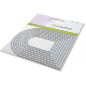 CraftEmotions Die - Bogen frames Card 11x9cm - 5,2 - 10,8 cm