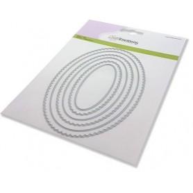 CraftEmotions Big Nesting Die - Scalop Ovale Card 150x160 - scalop 2,6 - 13cm