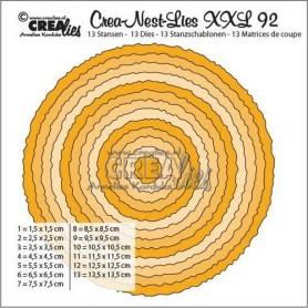 Crealies Crea-Nest-Lies XXL no 92 - Kreise mit raue Kanten 135 x 135mm