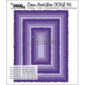 Crealies Crea-Nest-Lies XXL no 95 Rechtecke mit raue Kanten 125 x 165mm