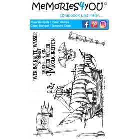 "Memories4you Stempel (A6)  ""Piraten"""