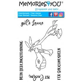 Memories4you Set Stempel Esel (A6) & Stencil Party (A6)