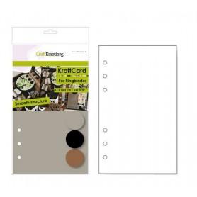 CraftEmotions Karton Kraft Ringbinder Mix 12 Bg A5