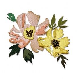 Sizzix Thinlits Die Set - 7PK Brushstroke Flowers 1 Tim Holtz
