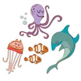 Sizzix Thinlits Die Set - Under the Sea 1 Colorize 22PK Tim Holtz