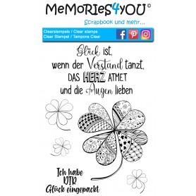 "Memories4you Stempel (A6) ""Glück"""