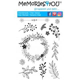 """Memories4you Stempel (A6)  """"Zweige"""""""