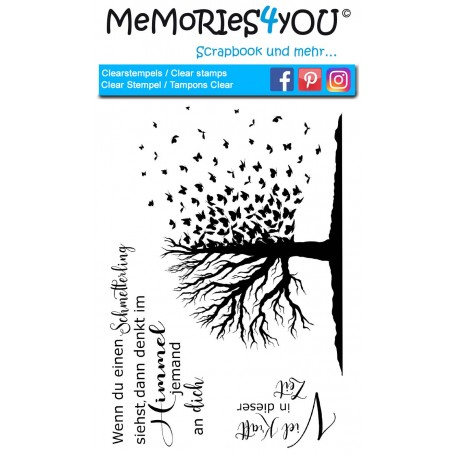 "Memories4you Stempel (A6)  ""Trauer"""