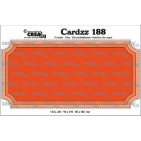 Crealies Cardzz Slimline H ticket 10x20,5cm