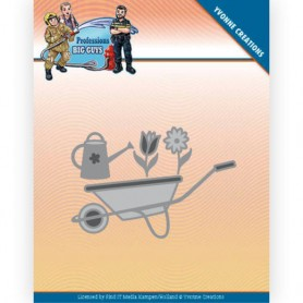 Yvonne Creations Dies - Big Guys Professions - wheelbarrow