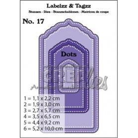 Crealies Labelzz & Tagzz no. 17 5,2x10cm