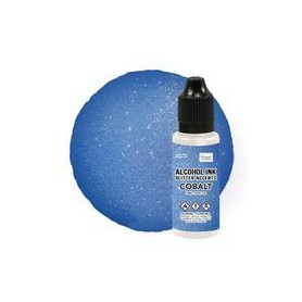 Alcohol Ink Glitter Accents - Cobalt